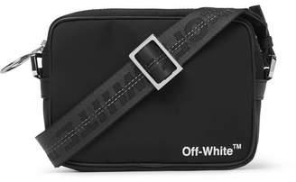 Off-White Leather-trimmed Logo-print Shell Camera Bag - Black