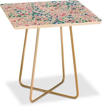 Deny Designs Jacqueline Maldonado Magic Terrazzo Pink Square Side Table
