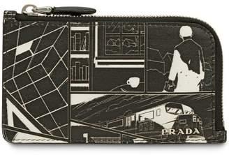 Prada graphic print wallet