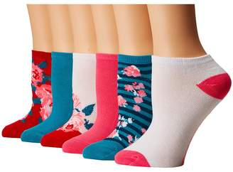 Betsey Johnson 6-Pack Embellished Rose Low Cuts Women's Low Cut Socks Shoes