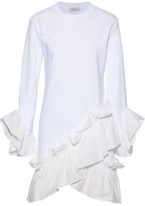 Goen.j Woman Asymmetric Modal-cotton Blend And Cotton Top White Size M GOEN.J zXWEQ9q