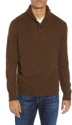 J.Crew Rugged Merino Wool Blend Shawl Collar Pullover