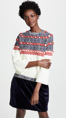 Clu Mixed Media Fair Isle Sweater Dress