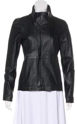 White + Warren Wool-Accented Leather Jacket