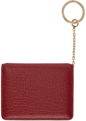 Maison Margiela Red Keychain Card Holder