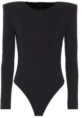 Unravel Long-sleeved bodysuit with shoulder pads