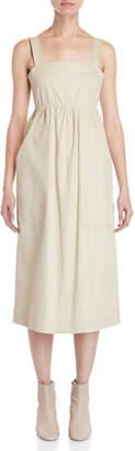 Ter Et Bantine Cotton Button-Back Midi Dress