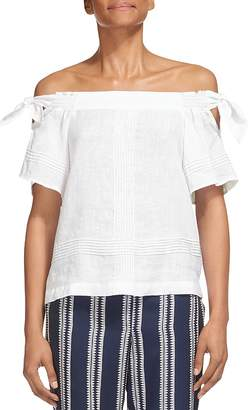 Whistles Lila Off-the-Shoulder Top $189 thestylecure.com