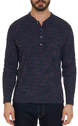 Robert Graham Long-Sleeve Knit Henley Shirt