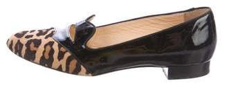 Charlotte Olympia Patent Leather Round-Toe Flats