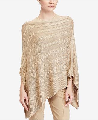 Lauren Ralph Lauren Cable-Knit Poncho $99.50 thestylecure.com