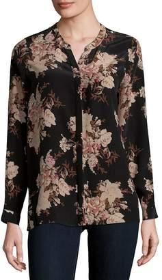 Joie Women's Devitri Floral Long-Sleeve Silk Blouse
