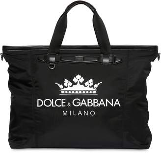 Dolce & Gabbana Logo Printed Nylon Gym Back