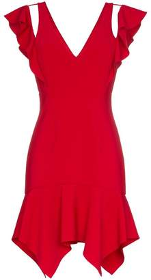 Haney Liv ruffle detail silk minidress