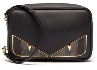 Fendi Bag Bugs Logo Eyes Leather Camera Bag - Mens - Black Multi