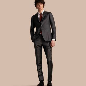 Burberry Slim Fit Travel Tailoring Prince of Wales Check Wool Suit $1,995 thestylecure.com