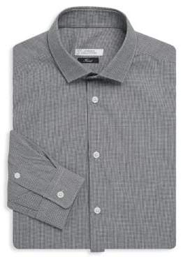 Versace Houndstooth Cotton Dress Shirt