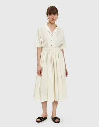 Black Crane Classy Dress in Cream