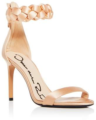 Oscar de la Renta Women's Brigit Braided Satin Ankle Strap High-Heel Sandals