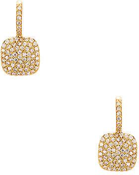 joolz by Martha Calvo Pave Square Huggie Earrings