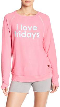 Peace Love World Comfy I Love Fridays Sweater