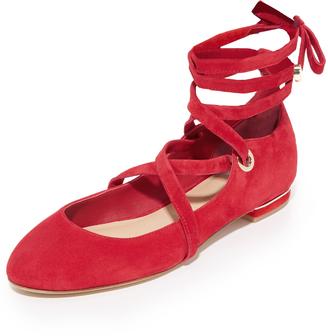 Diane von Furstenberg Dakar Lace Up Ballet Flats $248 thestylecure.com
