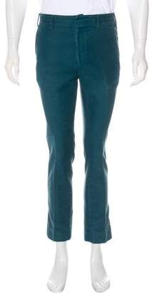 Salvatore Ferragamo Felt Flat Front Pants