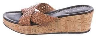 Donald J Pliner Braided Leather Slide Sandals