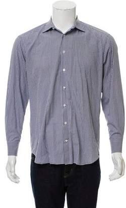 Barneys New York Barney's New York Gingham Button-Up Dress Shirt