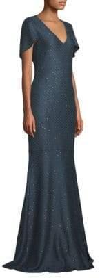 St. John Shimmer Sequin Knit Mermaid Gown