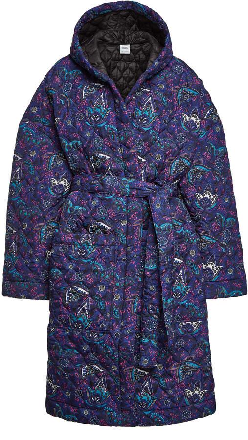 Printed Coat with Hood