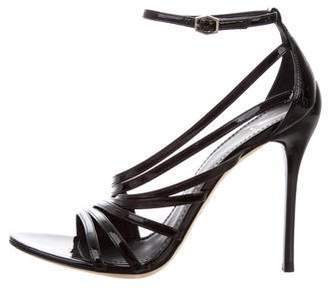 Brian Atwood Patent Leather Multistrap Sandals