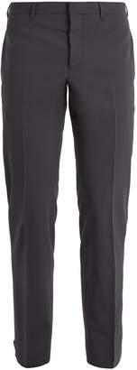 Prada Slim-leg ankle-button wool-blend trousers
