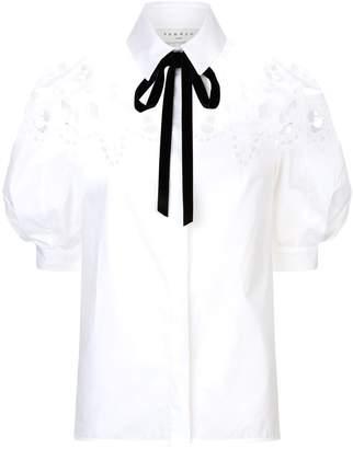 Sandro Broderie Anglaise Poplin Shirt