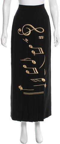 MoschinoMoschino Couture Embroidered Maxi Skirt