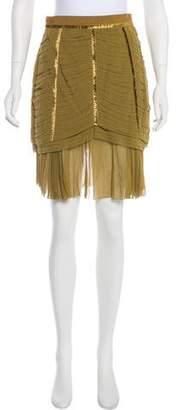 Louis Vuitton Velvet-Trimmed Knee-Length Skirt w/ Tags