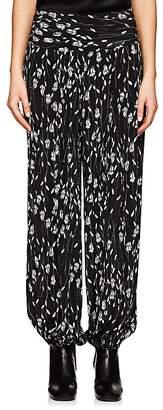 Nili Lotan Women's Ibiza Silk Drop-Rise Pants