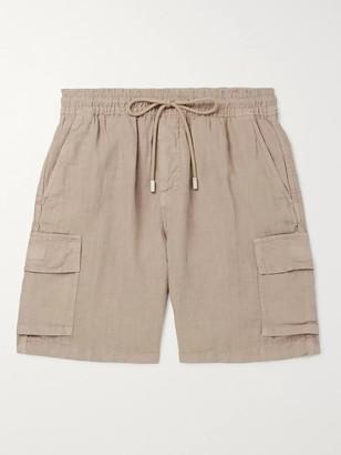Vilebrequin Baie Linen Cargo Shorts - Men - Cream