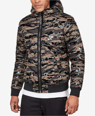 G Star Men's Quilted Hooded Camo Jacket