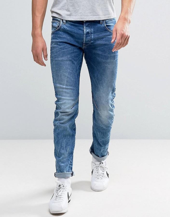 G StarG-Star Arc 3D Slim Jean Medium Aged Wash