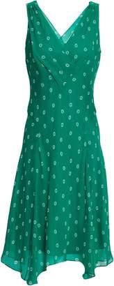 Diane von Furstenberg Fluted Printed Silk-chiffon Dress