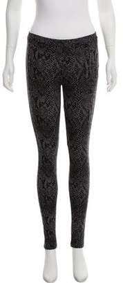 Joie Low-Rise Animal Print Leggings