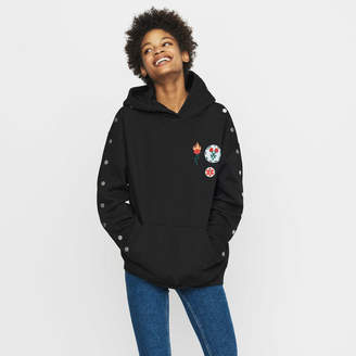 Maje Hooded sweatshirt with pressed buttons