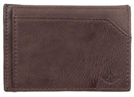 Dockers Magnetic Front Card Case Pocket Leather Wallet