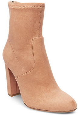 Steve Madden Brisk Microsuede Booties $99 thestylecure.com
