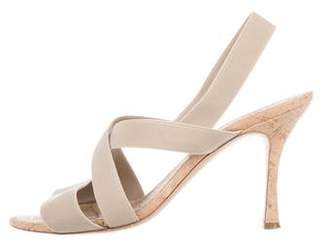 Manolo Blahnik Elasticized High-Heel Sandals