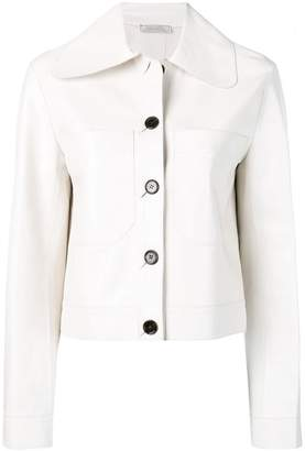 Nina Ricci boxy-fit leather jacket