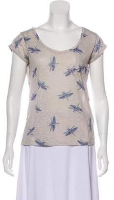 Dolce & Gabbana Dragonfly Scoop Neck T-Shirt