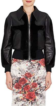 Prada Women's Leather & Mink Fur Jacket - Black
