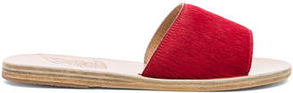 Ancient Greek Sandals Real Dyed Calf Hair Taygete Sandals in Red | FWRD